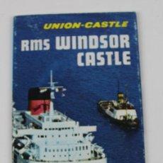 Líneas de navegación: PR-1211. RMS. WINDSOR CASTLE. UNION CASTLE.. Lote 165210594