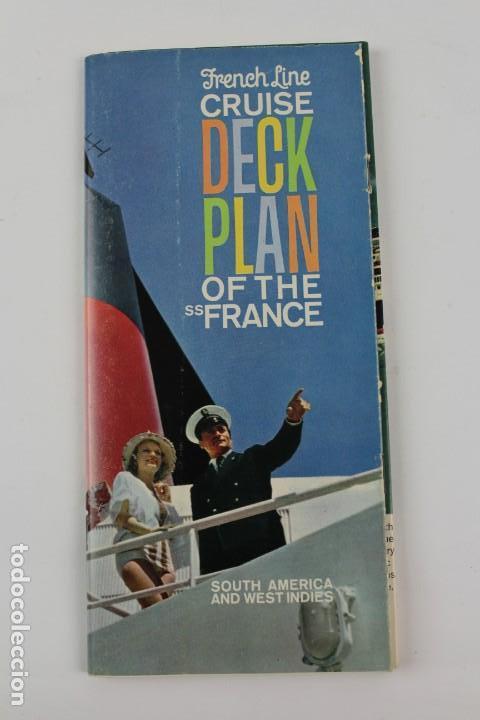 PR-1223. FRENCH LINE CRUISE DECK PLAN OF THE SS FRANCE. (Coleccionismo - Líneas de Navegación)