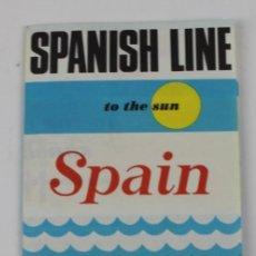 Líneas de navegación: PR- 1225. FOLLETO SPANISH LINE. COMPAÑIA TRASATLANTICA ESPAÑOLA. AÑOS 70.. Lote 165349266
