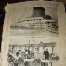 Líneas de navegación: ANTIGUA REVISTA OFICIAL DEL TRANSATLANTICO SS NORMANDIE USS LAFAYETTE - 1935 EDITION FRANÇAISE. Lote 169446052