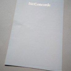 Líneas de navegación: CONCORDE, AVIÓN SUPERSÓNICO PARA PASAJEROS. HOJA DEL BLOC DE NOTAS DE A BORDO. BRITISH AIRWAYS. Lote 170034956