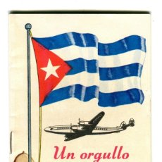 Líneas de navegación: CUBA BODAS DE PLATA CUBANA DE AVIACION (1930-1955) LIBRITO DE 20 PAGINAS EXPLICATIVO DE SU HISTORIA. Lote 170689705