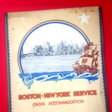 Líneas de navegación: WHITE STAR LINE - BOSTON - NEW YORK - SERVICE . Lote 171448463