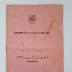 Líneas de navegación: COMPAÑIA TRASATLANTICA. VAPOR - CORREO MAGALLANES. LISTA DE PASAJEROS. 1945. Lote 171592545