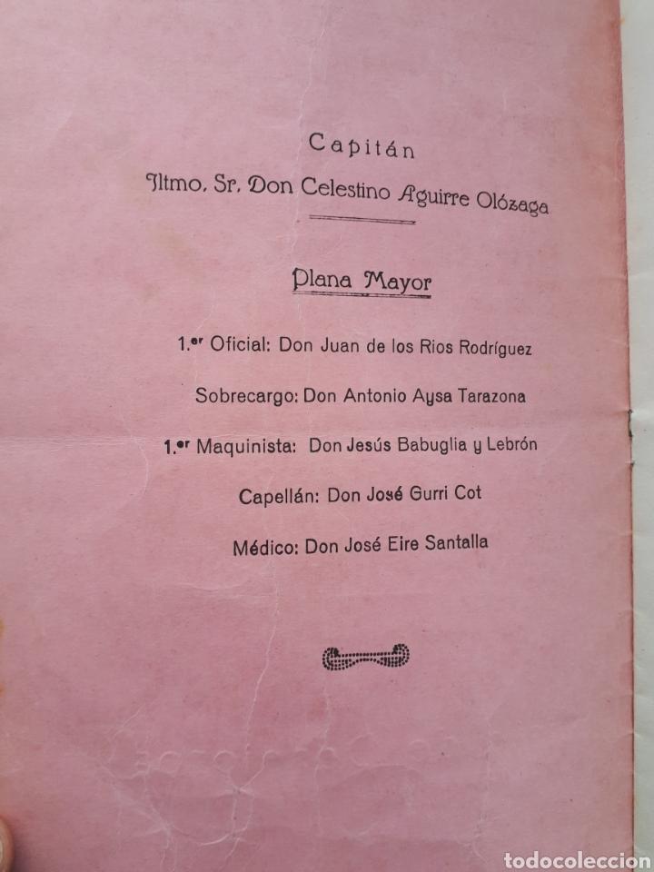 Líneas de navegación: COMPAÑIA TRASATLANTICA. Vapor - correo MAGALLANES. Lista de pasajeros. 1945 - Foto 3 - 171592545