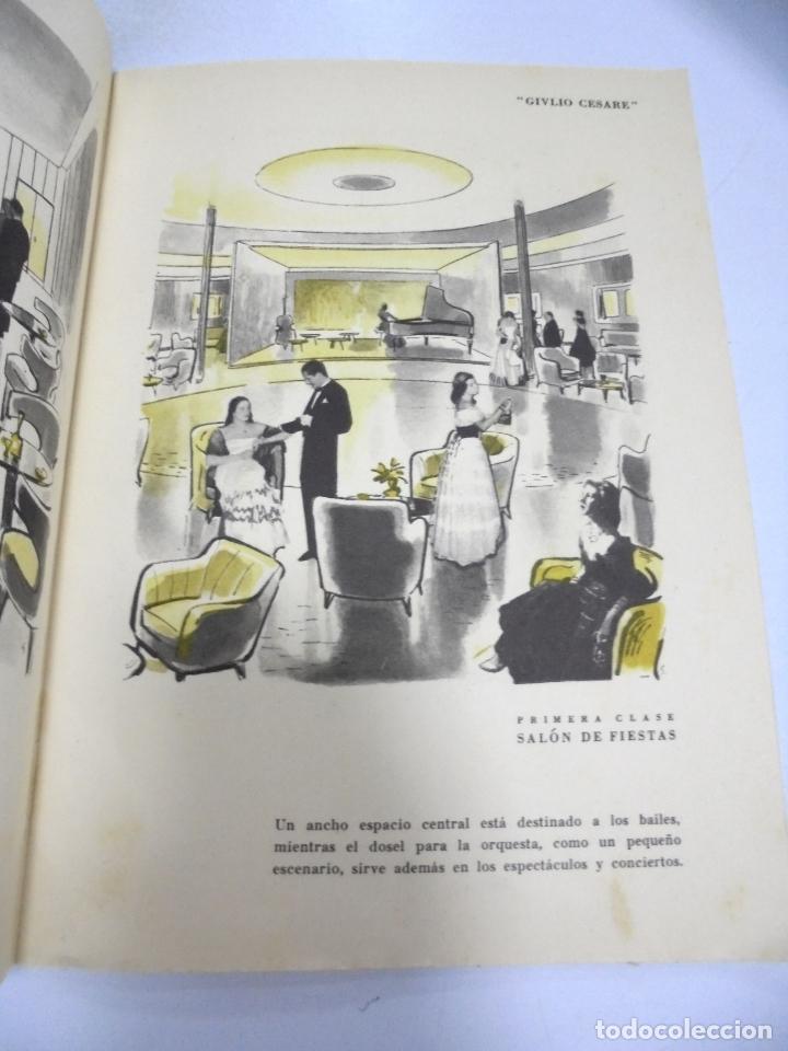 Líneas de navegación: FOLLETO PUBLICITARIO. GIVLIO CESARE AUGUSTUS. ITALIA. VER INTERIOR. DIBUJOS DEL BARCO - Foto 2 - 172688192