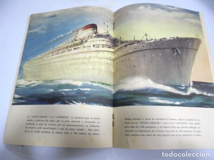 Líneas de navegación: FOLLETO PUBLICITARIO. GIVLIO CESARE AUGUSTUS. ITALIA. VER INTERIOR. DIBUJOS DEL BARCO - Foto 4 - 172688192