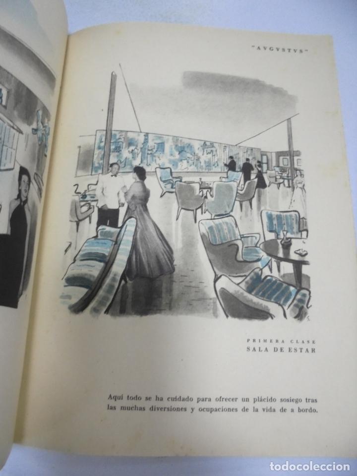 Líneas de navegación: FOLLETO PUBLICITARIO. GIVLIO CESARE AUGUSTUS. ITALIA. VER INTERIOR. DIBUJOS DEL BARCO - Foto 5 - 172688192