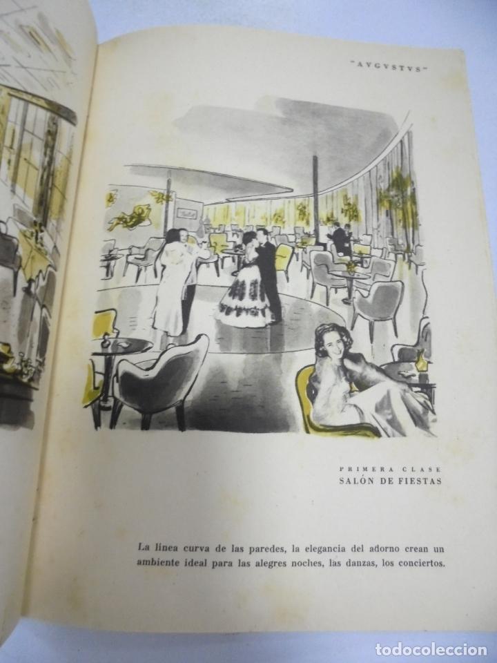 Líneas de navegación: FOLLETO PUBLICITARIO. GIVLIO CESARE AUGUSTUS. ITALIA. VER INTERIOR. DIBUJOS DEL BARCO - Foto 6 - 172688192