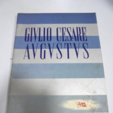 Líneas de navegación: FOLLETO PUBLICITARIO. GIVLIO CESARE AUGUSTUS. ITALIA. VER INTERIOR. DIBUJOS DEL BARCO. Lote 172688192