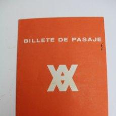 Líneas de navegación: PR-1276. BILLETE SENCILLO DE PASAJE. YBARRA ¬ CIA. SEVILLA. AÑO 1965.. Lote 175042207