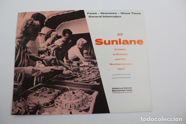 PR-1297. NFORMACION SUNLANE CRUISES TO EUROPE AND THE MEDITERRANEAN 1967. (Coleccionismo - Líneas de Navegación)