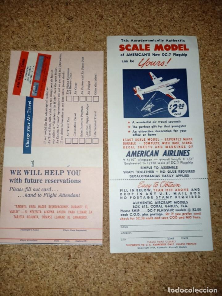Líneas de navegación: Antiguo billete de avión, EASTERN AIR LINES. - Foto 3 - 176519878