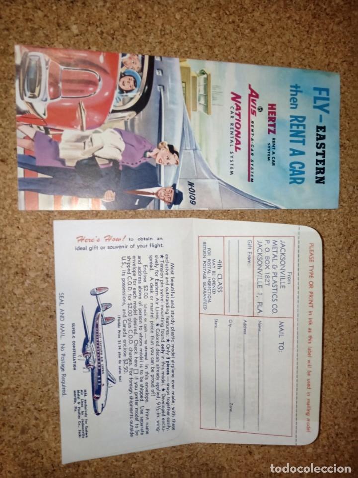 Líneas de navegación: Antiguo billete de avión, EASTERN AIR LINES. - Foto 4 - 176519878