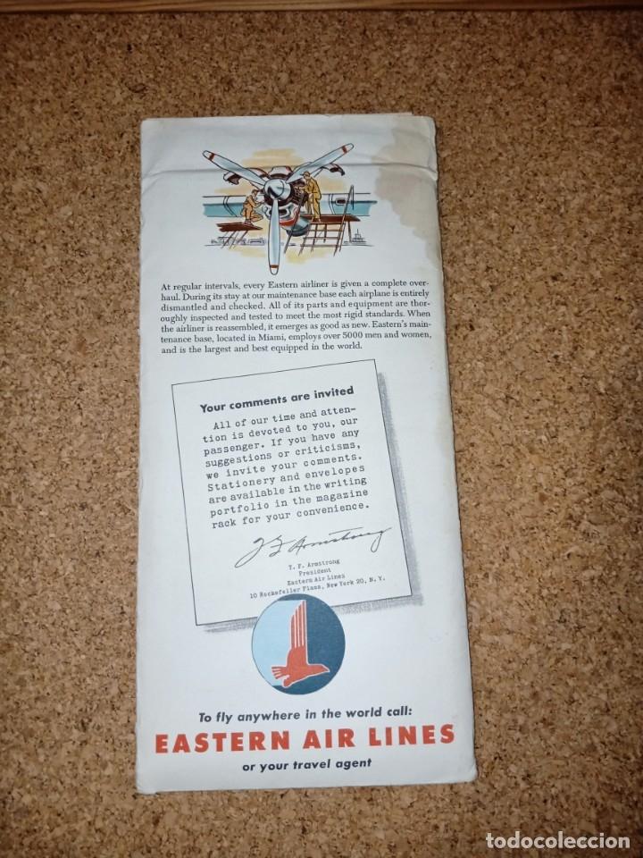 Líneas de navegación: Antiguo billete de avión, EASTERN AIR LINES. - Foto 8 - 176519878