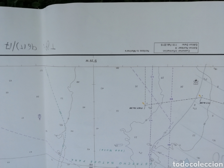 Líneas de navegación: Carta Nautica Algeciras 1'20 x 80 cms - Foto 5 - 177030329
