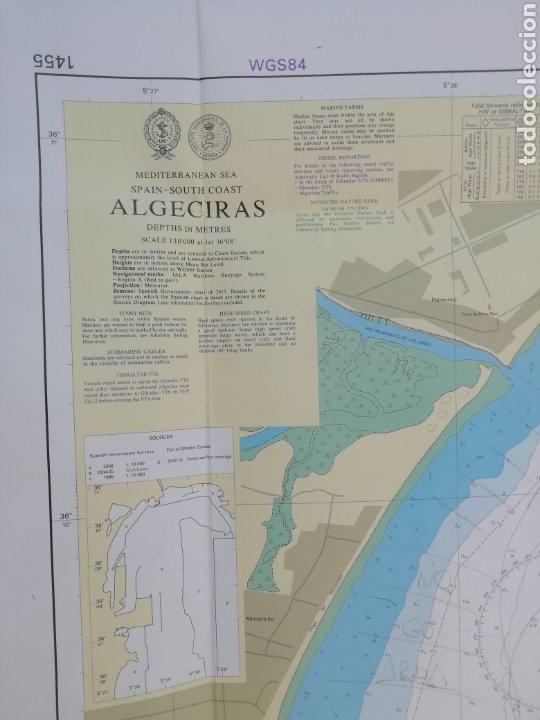 CARTA NAUTICA ALGECIRAS 1'20 X 80 CMS (Coleccionismo - Líneas de Navegación)