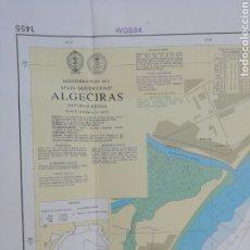 Líneas de navegación: CARTA NAUTICA ALGECIRAS 1'20 X 80 CMS. Lote 177030329