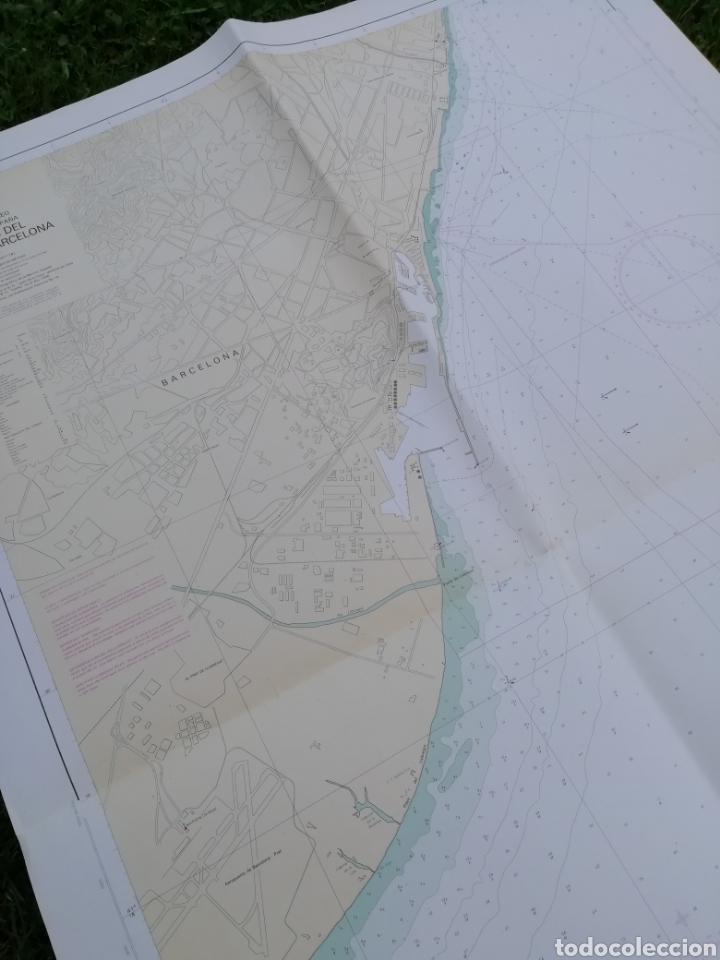 Líneas de navegación: Carta Nautica Barcelona 114 x 80 cms - Foto 2 - 212324735