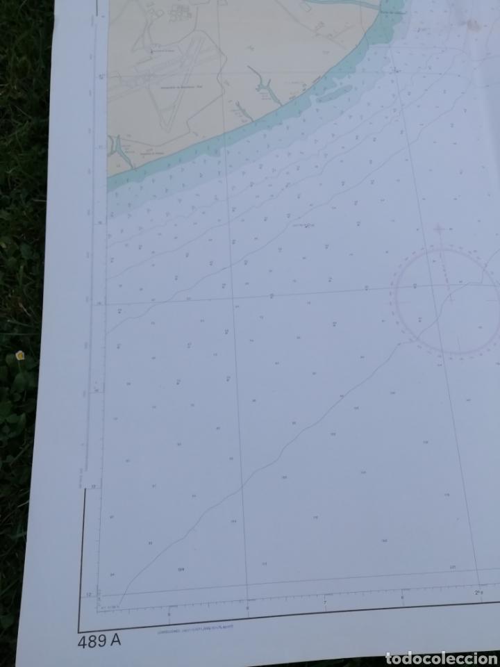 Líneas de navegación: Carta Nautica Barcelona 114 x 80 cms - Foto 3 - 212324735