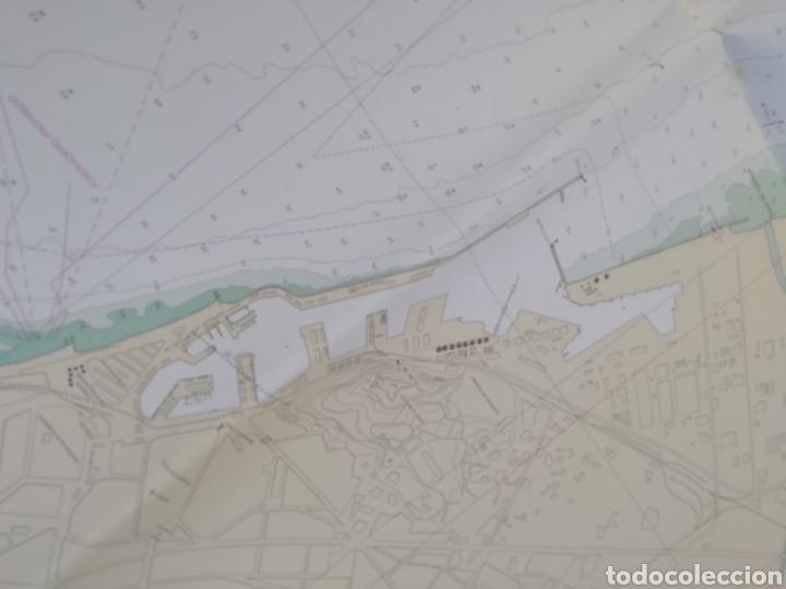 Líneas de navegación: Carta Nautica Barcelona 114 x 80 cms - Foto 7 - 212324735