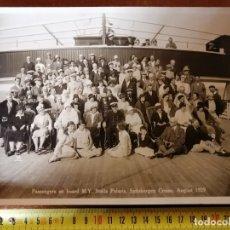 Líneas de navegación: FOTO PASAJEROS CRUCERO STELLA POLARIS .1929. GRAN FORMATO. Lote 177645683