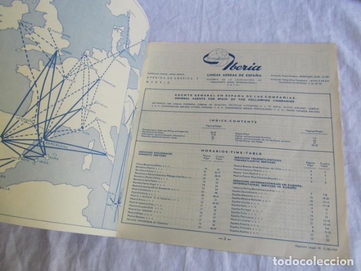 Líneas de navegación: Horarios y tarifas de Iberia, verano de 1961 - Foto 3 - 177716310