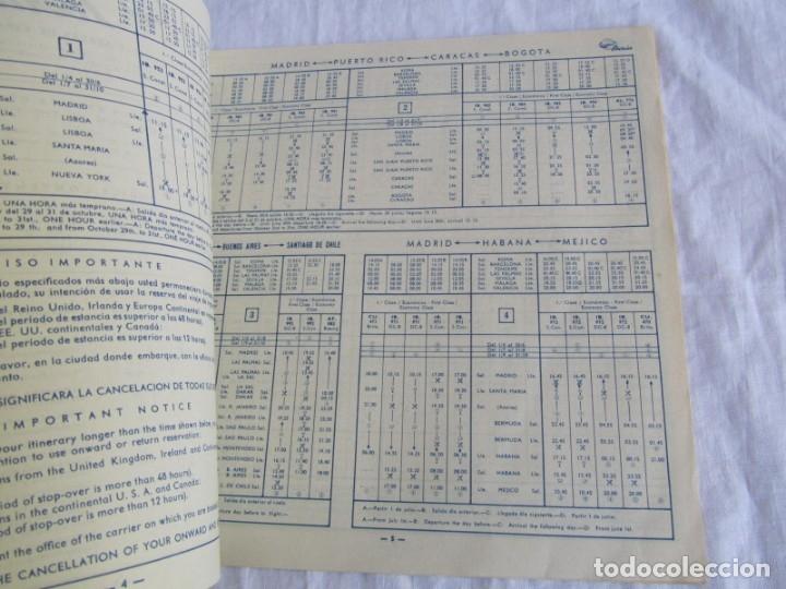 Líneas de navegación: Horarios y tarifas de Iberia, verano de 1961 - Foto 4 - 177716310