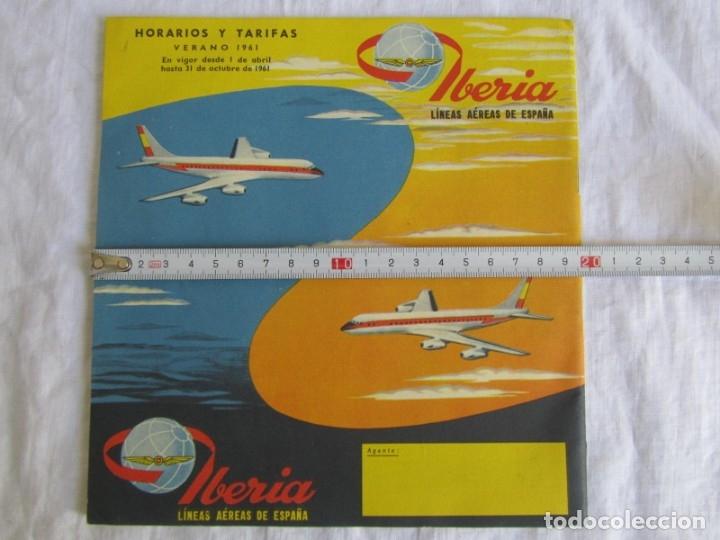 Líneas de navegación: Horarios y tarifas de Iberia, verano de 1961 - Foto 5 - 177716310