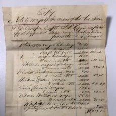 Líneas de navegación: FACTURA DEL BUQUE SS COOPER CON SELLO DEL CONSULADO DE AMERICA EN TENERIFE. 1879. FIRMADO EL CONSUL. Lote 177879719