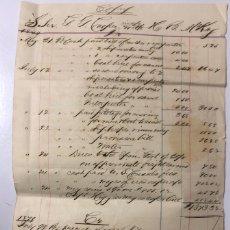 Líneas de navegación: FACTURA DEL BUQUE SS COOPER CON SELLO DEL CONSULADO DE AMERICA EN TENERIFE. 1879. FIRMADO EL CONSUL. Lote 177879739