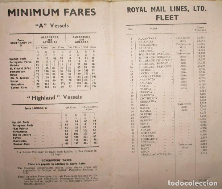 Líneas de navegación: FOLLETO DE LOS CRUCEROS ROYAL MAIL LINES A SUDAMÉRICA PARA CORREO Y PASAJE. GIJÓN, 1935. - Foto 7 - 178088134