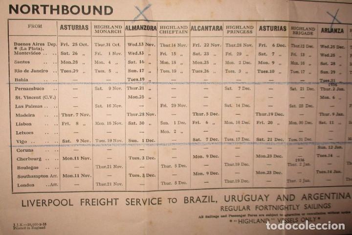Líneas de navegación: FOLLETO DE LOS CRUCEROS ROYAL MAIL LINES A SUDAMÉRICA PARA CORREO Y PASAJE. GIJÓN, 1935. - Foto 9 - 178088134