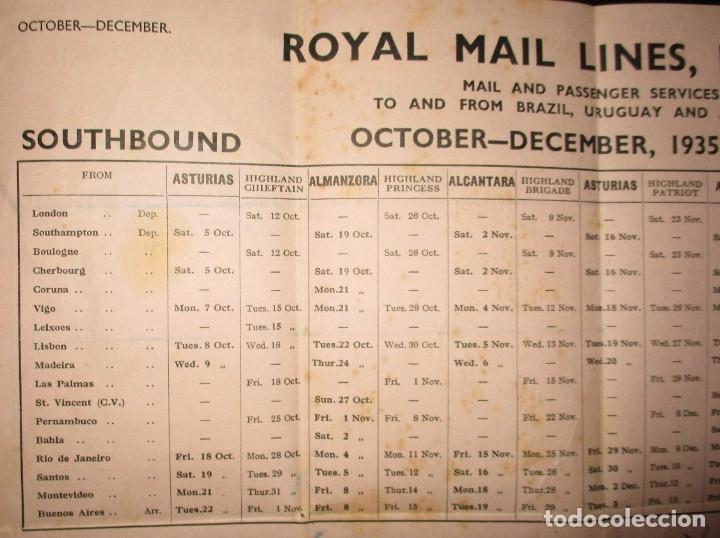 Líneas de navegación: FOLLETO DE LOS CRUCEROS ROYAL MAIL LINES A SUDAMÉRICA PARA CORREO Y PASAJE. GIJÓN, 1935. - Foto 10 - 178088134