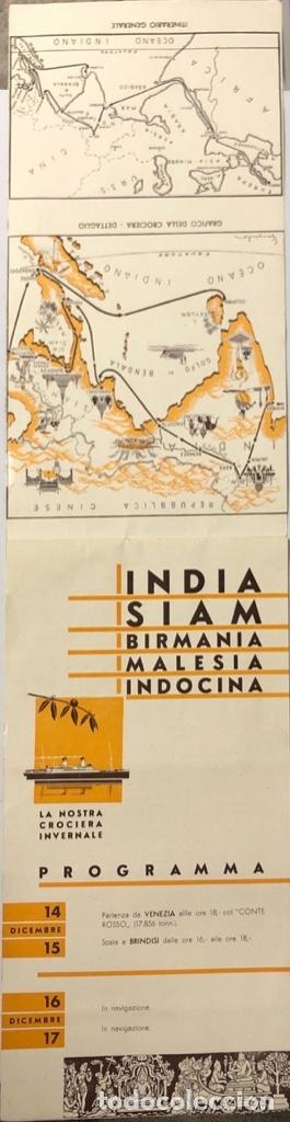 Líneas de navegación: COMPAÑOA CHIARIVA. CRUCERO DE ITALIA 1934. SIAM. CAMBOYA. MALASIA. INDIA. - Foto 2 - 178183188