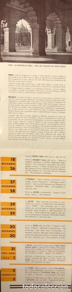 Líneas de navegación: COMPAÑOA CHIARIVA. CRUCERO DE ITALIA 1934. SIAM. CAMBOYA. MALASIA. INDIA. - Foto 3 - 178183188