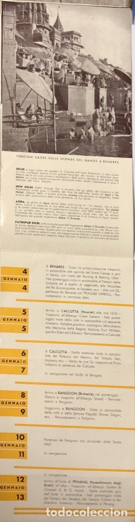 Líneas de navegación: COMPAÑOA CHIARIVA. CRUCERO DE ITALIA 1934. SIAM. CAMBOYA. MALASIA. INDIA. - Foto 4 - 178183188