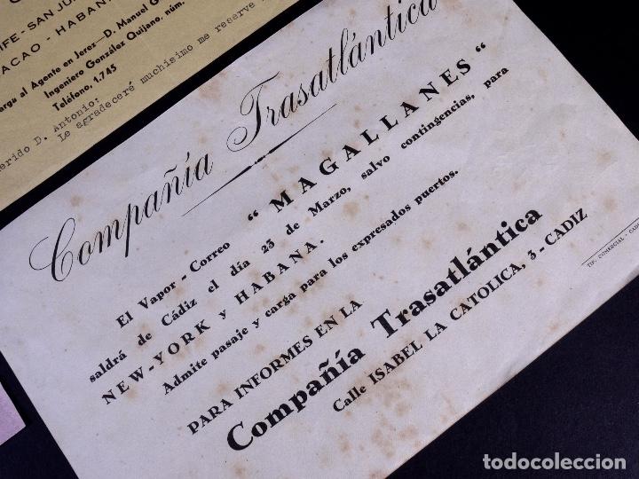 Líneas de navegación: VAPORES COMPAÑIA TRASATLANTICA. 4 UDS. DEFERENTES EMBARQUES. 1949 - Foto 5 - 179131102