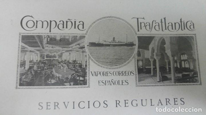 COMPAÑIA TRASATLANTICA VAPORES CORREOS ESPAÑOLES SERVIVIOS REGULARES FILIPINAS LINEAS HOJA AÑO 1928 (Coleccionismo - Líneas de Navegación)