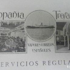 Líneas de navegación: COMPAÑIA TRASATLANTICA VAPORES CORREOS ESPAÑOLES SERVIVIOS REGULARES FILIPINAS LINEAS HOJA AÑO 1928. Lote 180128668