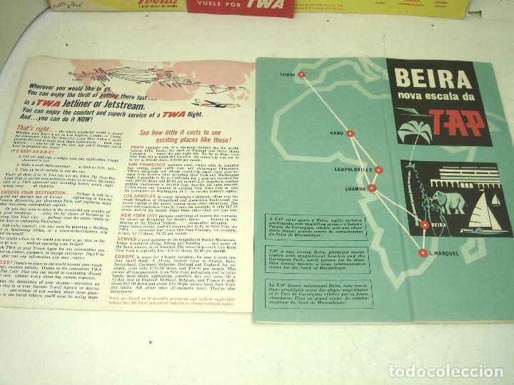 Líneas de navegación: 8X FOLLETOS LINEAS AEREAS TWA IBERIA TAP CANADIAN TRAINS ..ETC-HORARIOS TARIFAS TURISMO PLANO MAPA - Foto 5 - 180453975
