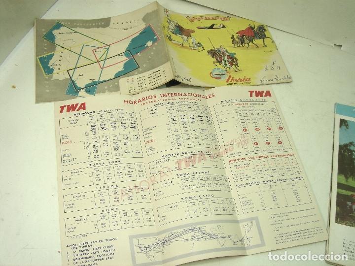 Líneas de navegación: 8X FOLLETOS LINEAS AEREAS TWA IBERIA TAP CANADIAN TRAINS ..ETC-HORARIOS TARIFAS TURISMO PLANO MAPA - Foto 7 - 180453975