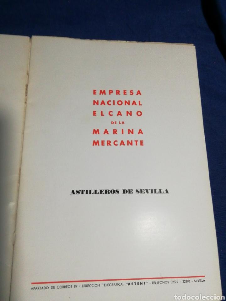 Líneas de navegación: 1958. CATÁLOGO DEL BUQUE DE CARGA GENERAL TIPO YC. ENORME PLANO. EMPRESA NACIONAL ELCANO. SEVILLA - Foto 3 - 181096683
