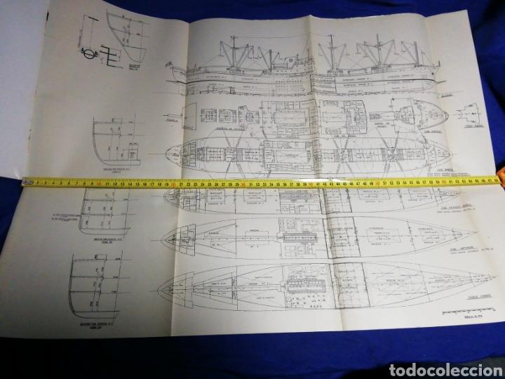Líneas de navegación: 1958. CATÁLOGO DEL BUQUE DE CARGA GENERAL TIPO YC. ENORME PLANO. EMPRESA NACIONAL ELCANO. SEVILLA - Foto 7 - 181096683