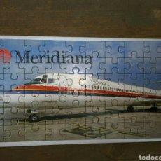 Líneas de navegación: PUZZLE MERIDIANA AIR ENTRETENIMIENTO VIAJE AVIÓN MD-83. Lote 181106382