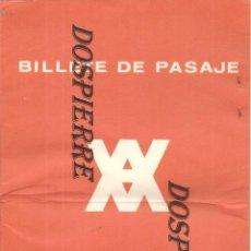 Líneas de navegación: BILLETE DE PASAJE, CRUCEROS YBARRA, CRUCERO DE VERANO CABO SAN VICENTE, 1967. Lote 184010170