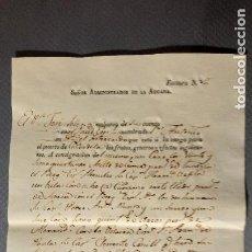 Líneas de navegación: FACTURA DE EMBARQUE MERCANCÍAS DE MAHÓN A CIUDADELA. AÑO 1817. Lote 187440122
