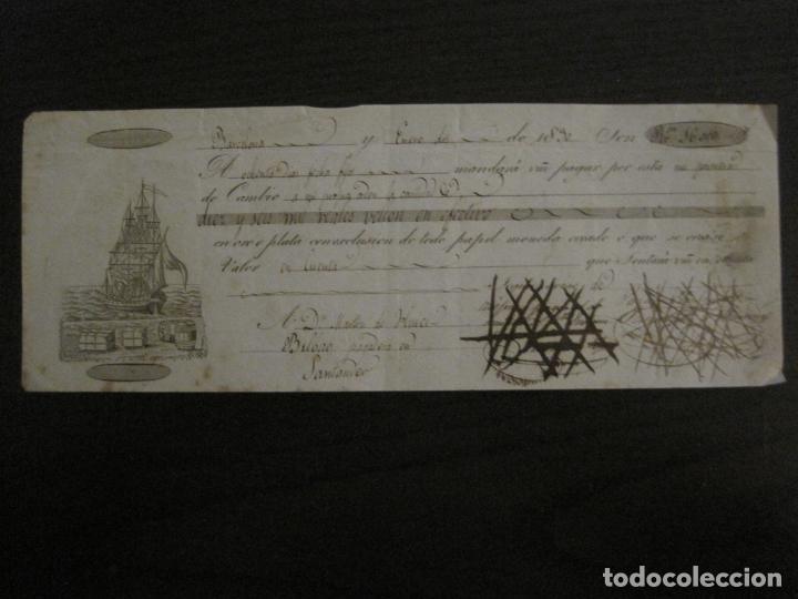 CONOCIMIENTO DE EMBARQUE-BARCELONA-BILBAO-SANTANDER-ENERO 1830-VER FOTOS-(V-18.682) (Coleccionismo - Líneas de Navegación)