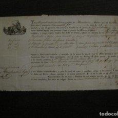 Linhas de navegação: CONOCIMIENTO DE EMBARQUE-SAN SEBASTIAN-BARCELONA-ABRIL 1832-VER FOTOS-(V-18.683). Lote 189575076