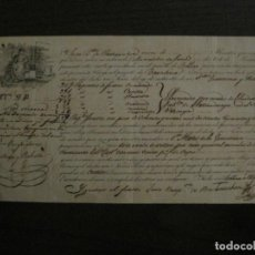 Líneas de navegación: CONOCIMIENTO DE EMBARQUE-BARCELONA-BILBAO-MAYO 1832-VER FOTOS-(V-18.686). Lote 189575656
